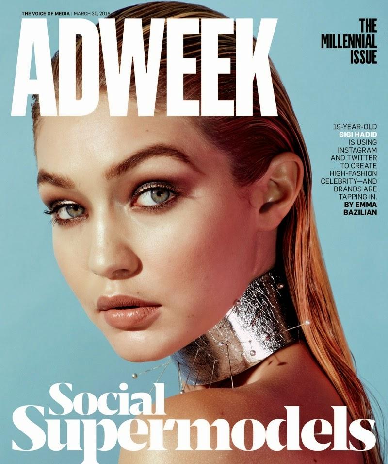 Fashion Model @ Gigi Hadid - Adweek Magazine March 2015