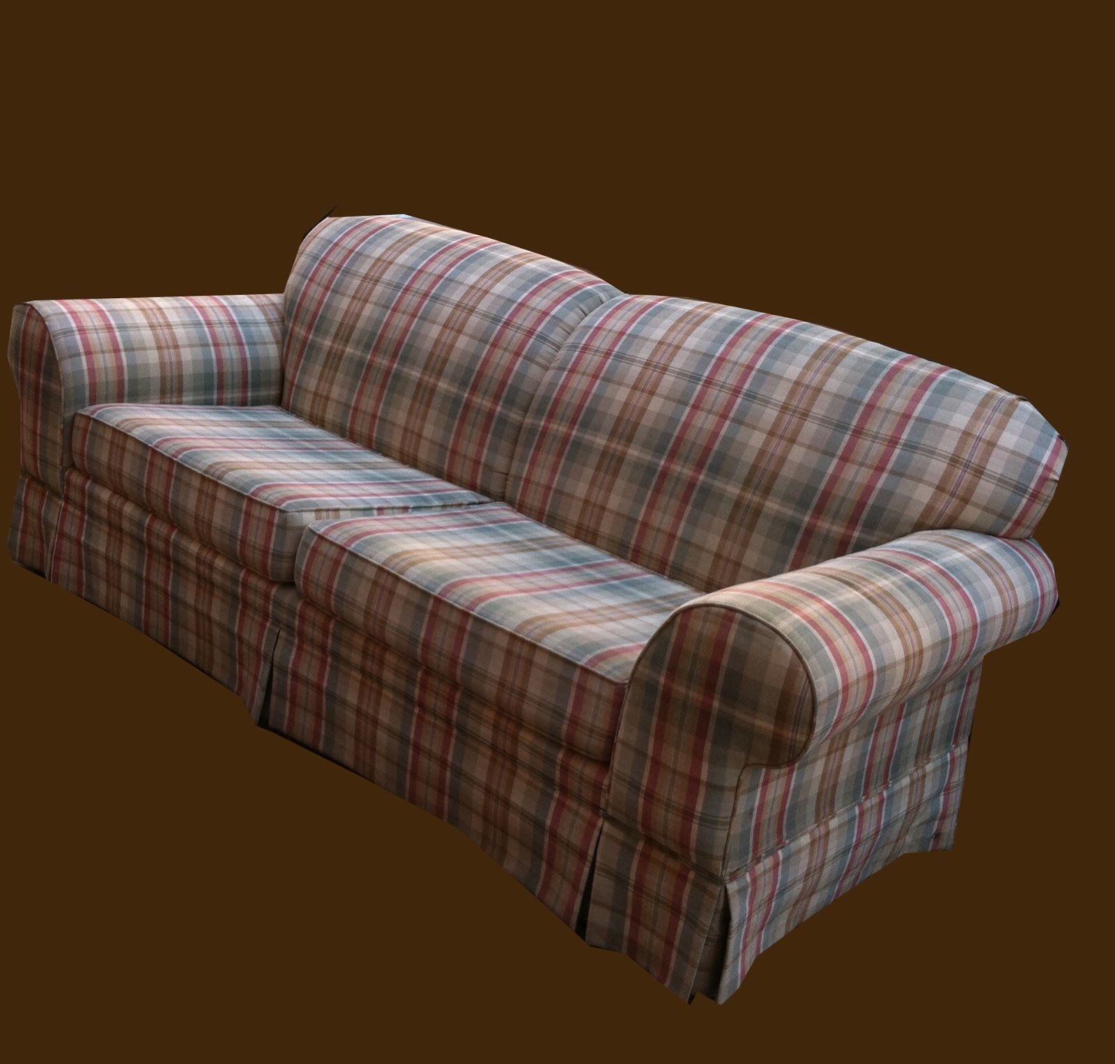 Uhuru Furniture Collectibles Plaid Sofa Sold