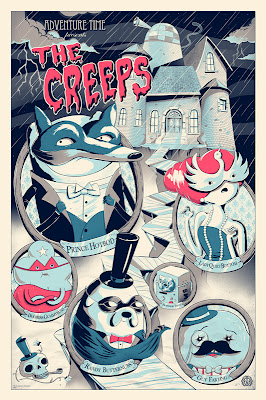 "Adventure Time ""The Creeps"" Variant Screen Print by JJ Harrison"