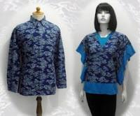 Baju+Batik+Muslim,+Model+Baju+Batik+Wanita+Modern,+Gambar+Model+Baju
