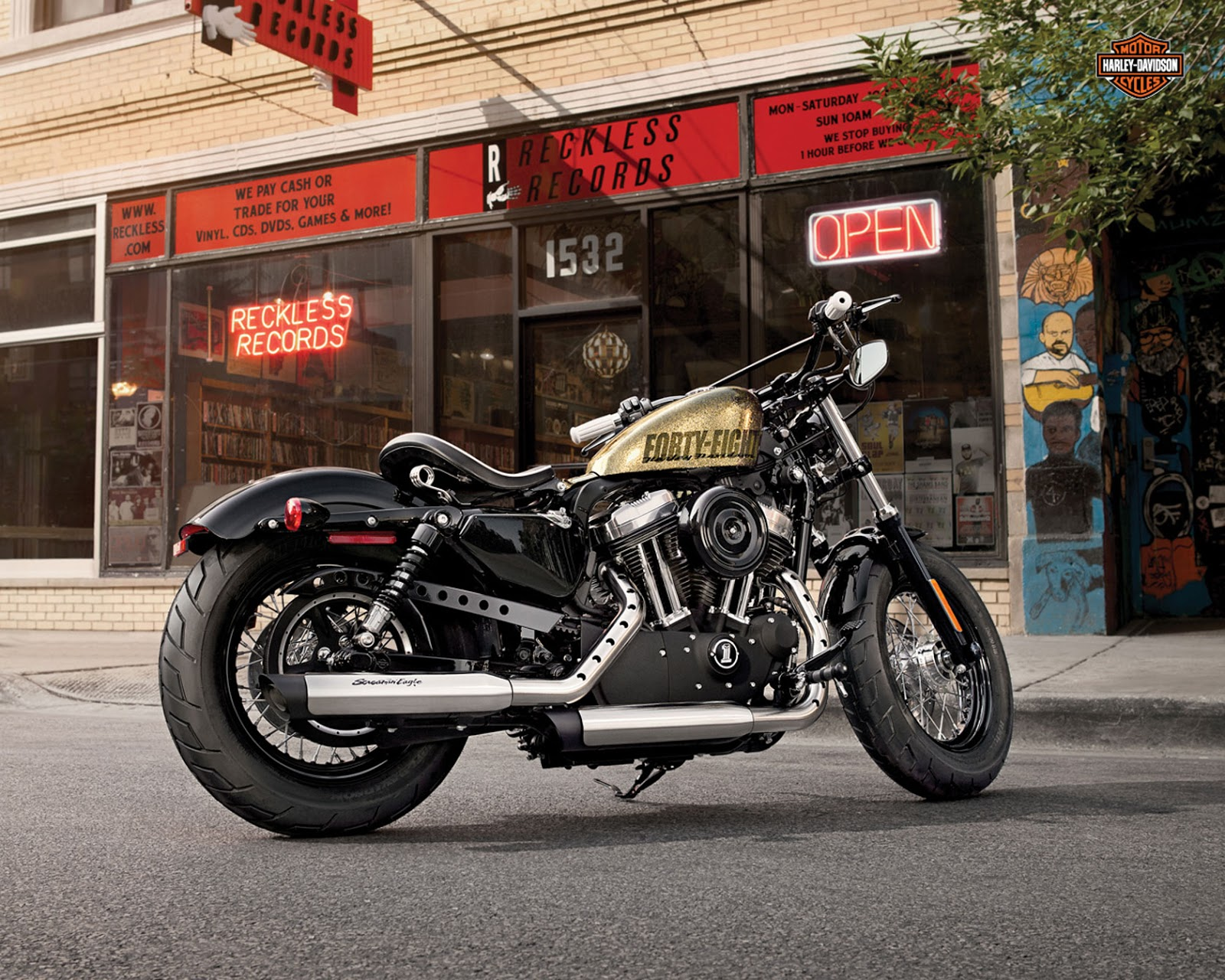 Harley Sportster Custom White   Free HD Wallpaper