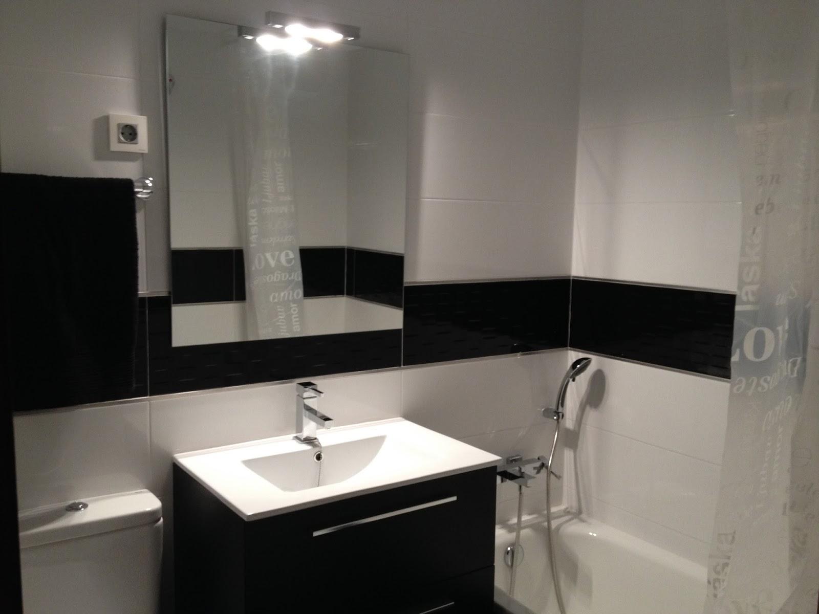Baño negro y blanco ~ vero4casa