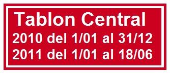 Tablon Central 2010/2011
