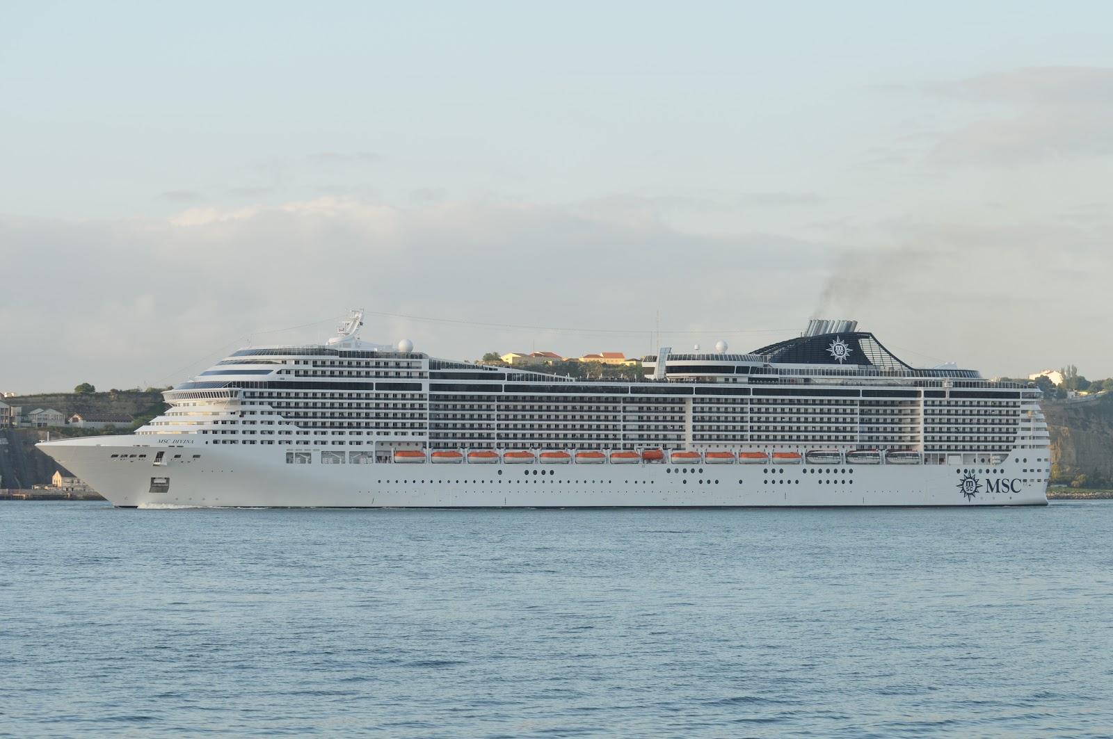 LISBON CRUISE SHIPS MSC DIVINA In Lisbon