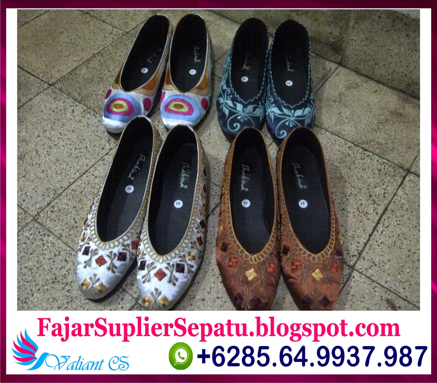Sepatu Bordir Murah, Grosir Sepatu Bordir Jakarta, Jual Sepatu Bordir Murah, +62.8564.993.7987