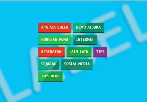 Label Diblog Warna Warni Keren Terbaru,