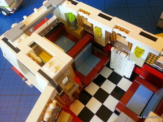 LEGO T1  Volkswagen Split screen Campervan set 10220 drop down table and seating