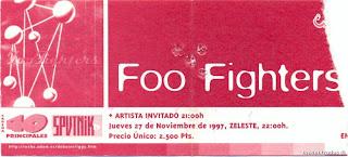 entrada de concierto de foo fighters