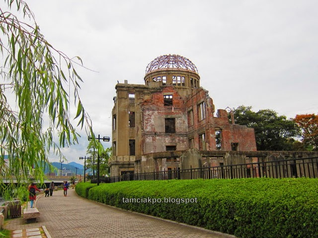 Genbaku Dome in Hiroshima Peace Memorial Park