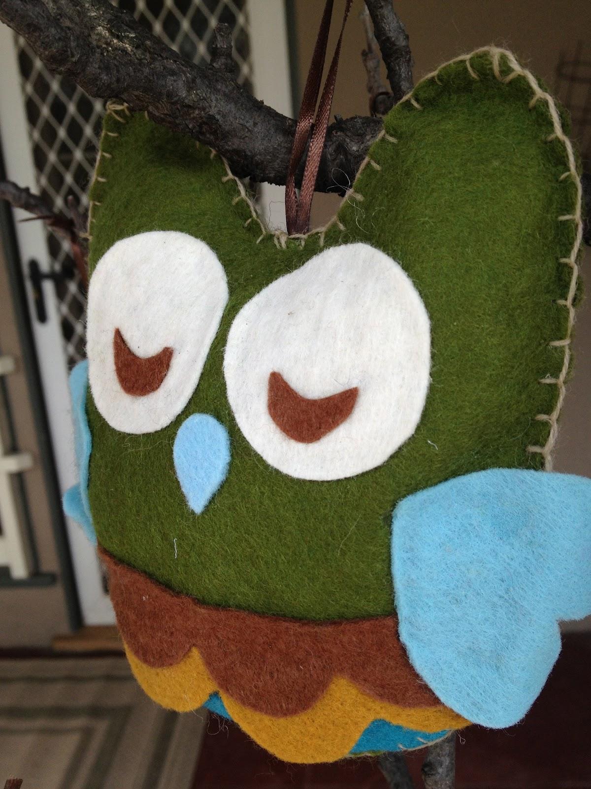 sleeping owl in a love note tree