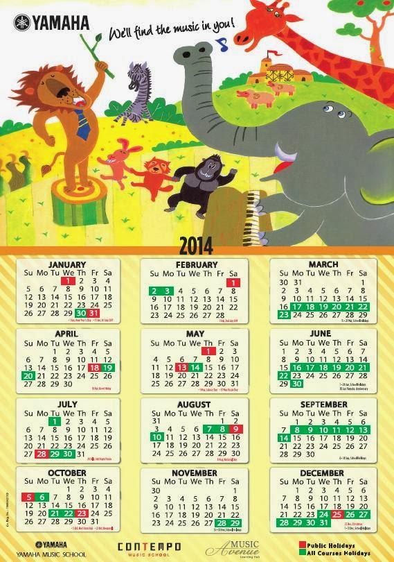 Calendar Typography Yamaha : Electone corner yamaha course calendar