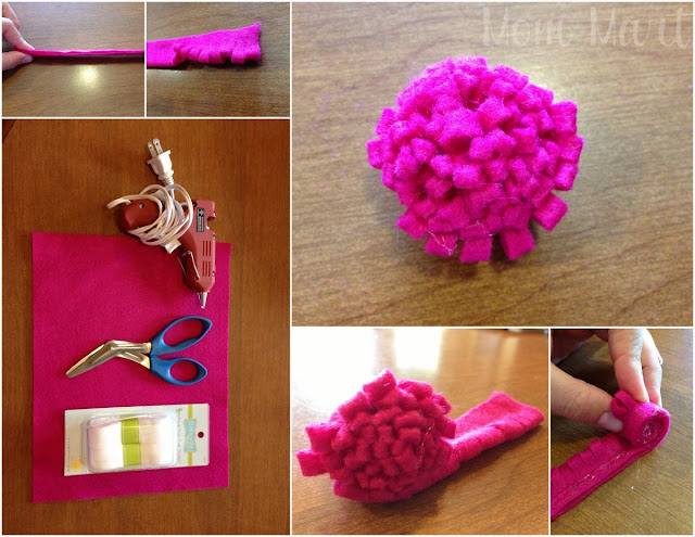Cut Felt Flower Baby Headband Tutorial