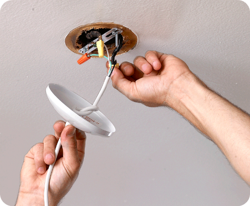 Untwist The Wire Nut Connectors To Free The Old Fixture, And Remove. Wire  Connecting Installation: