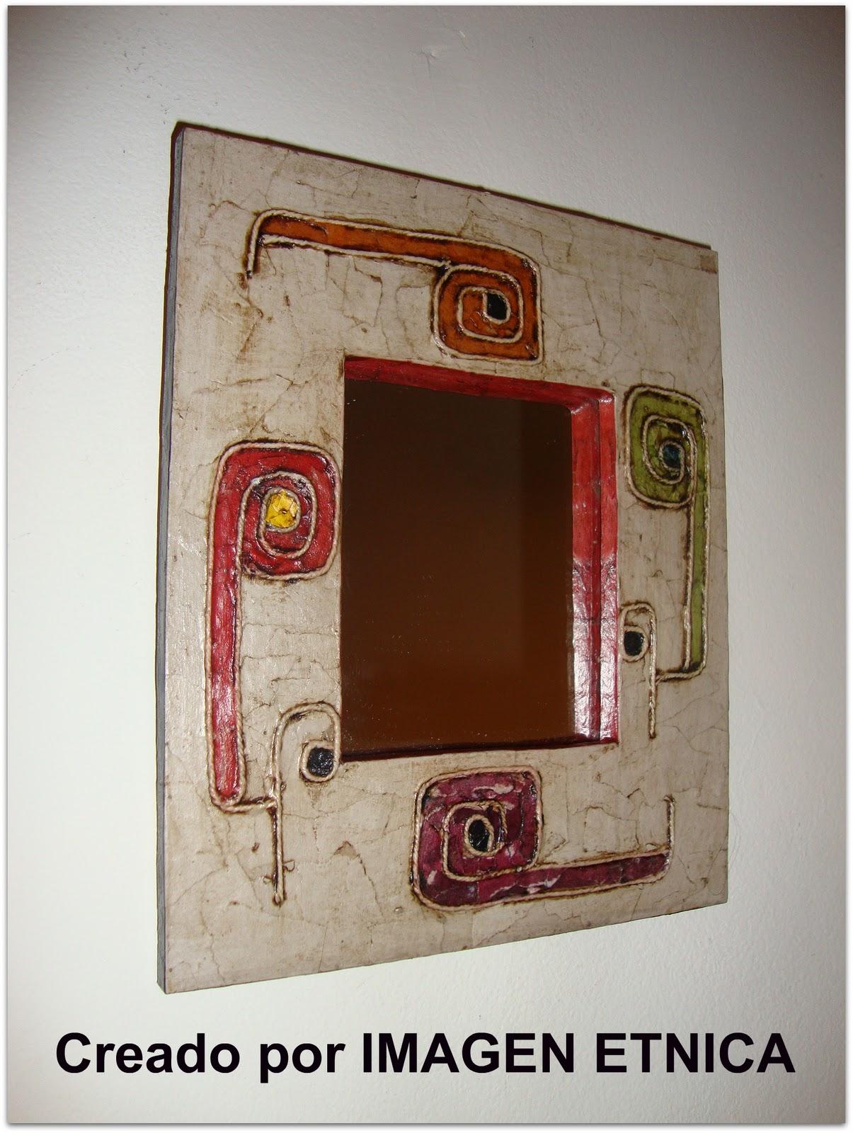 Imagen tnica artesan a latinoamericana arte en espejos y m s dise os tnicos - Espejos etnicos ...