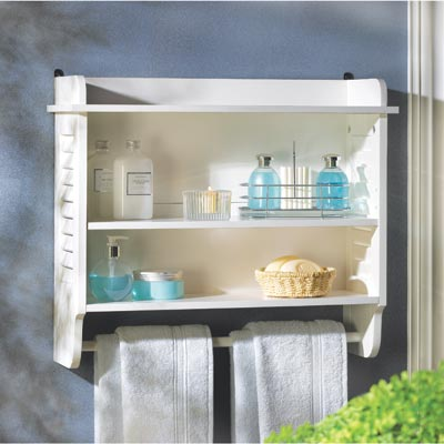 Knick knacks galore 14706 nantucket bathroom wall shelf for Bathroom knick knacks