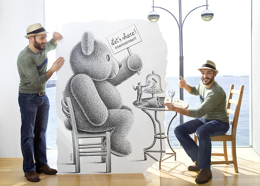 Let's share - teddybear and Ben Heine - Love and Chocolate
