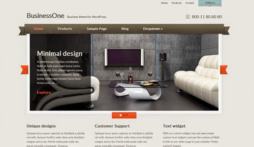 BusinessOne Cssigniter Wordpress Theme Version 1.2 free