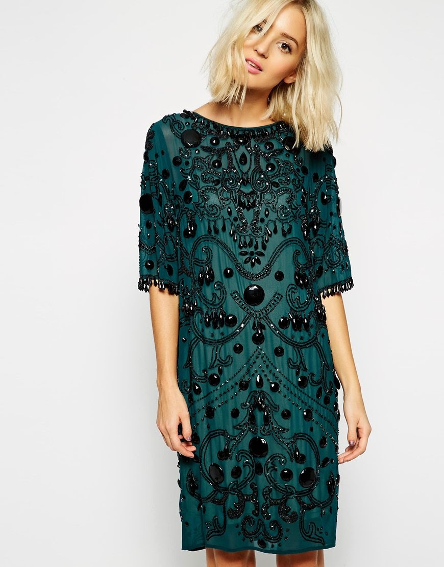 green black party dress