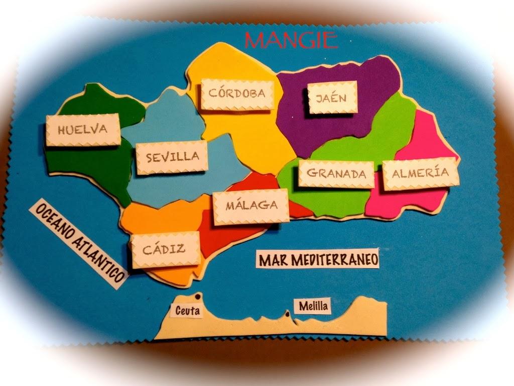 Mapa político de Andalucía