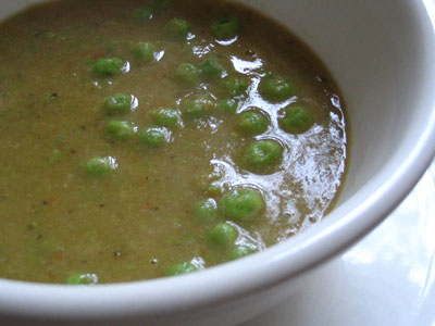 Indian-Style Green Pea Soup