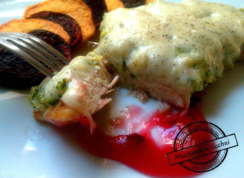 Filet z kurczaka z brokułem i mozzarellą mechanik w kuchni pomysł na obiad na filet z kurczaka konfitura żurawiny