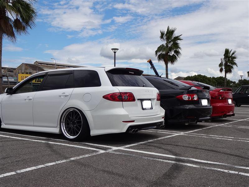 Mazda Atenza, 6, piękny design, ciekawe samochody, japońskie, tuning, pasja, modyfikacje, czarne felgi, tył, galeria, JDM