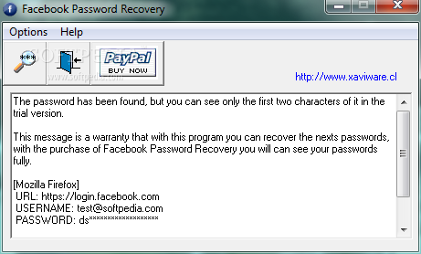 Facebook password recovery professional full version download