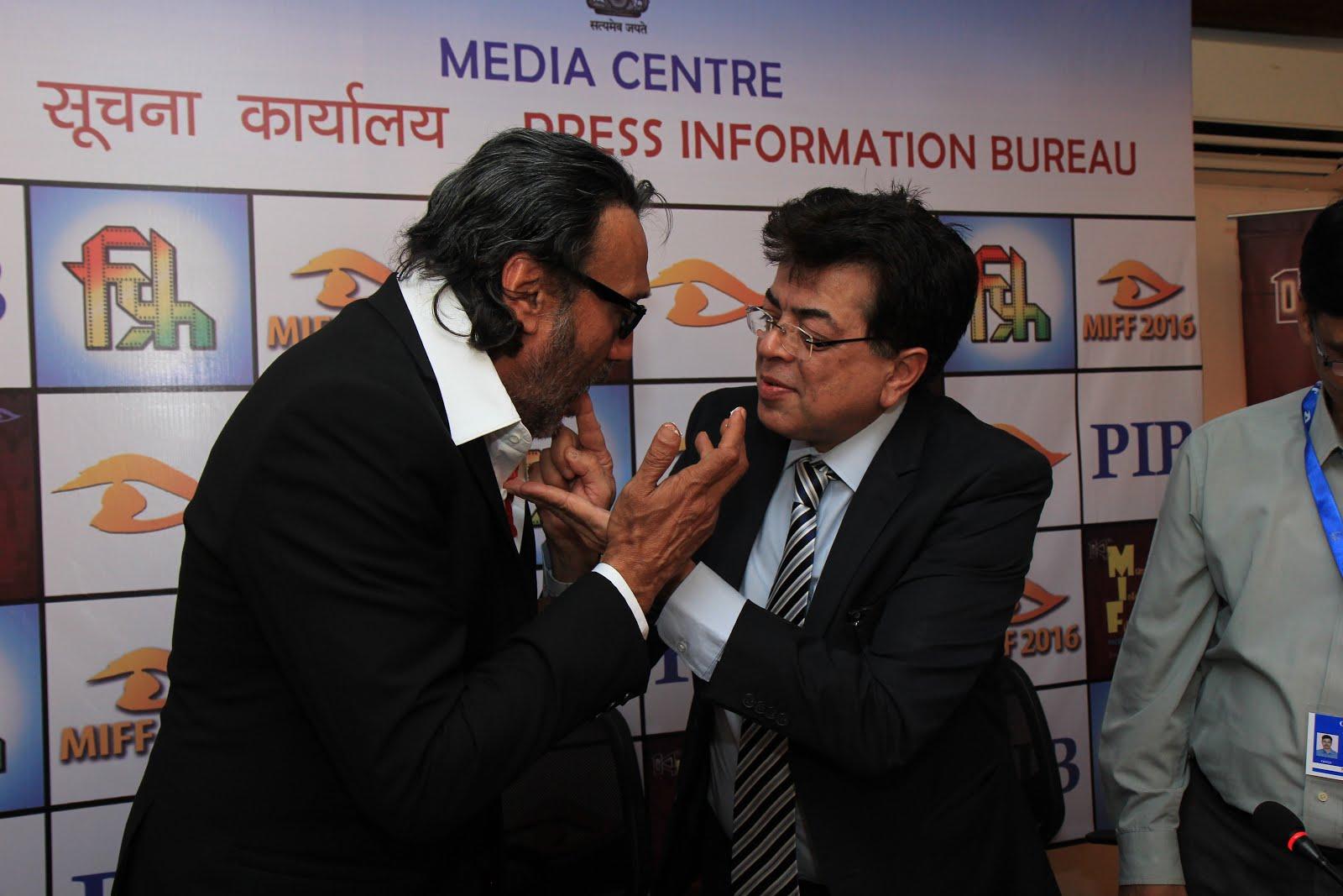 Celebrating Jackie Shroffs Birthday at Films Division during the Mumbai international film Festival