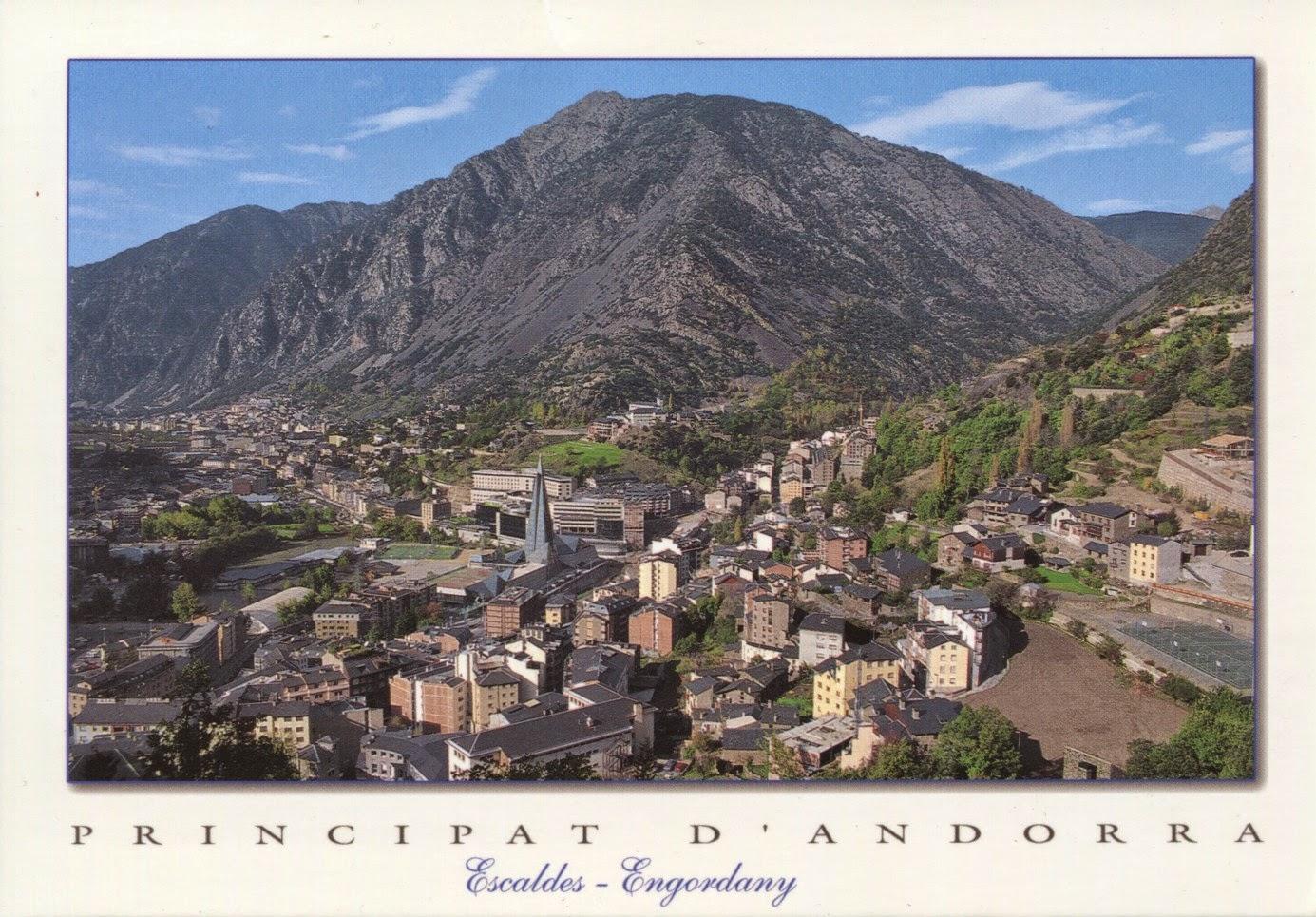 postcard, andorra