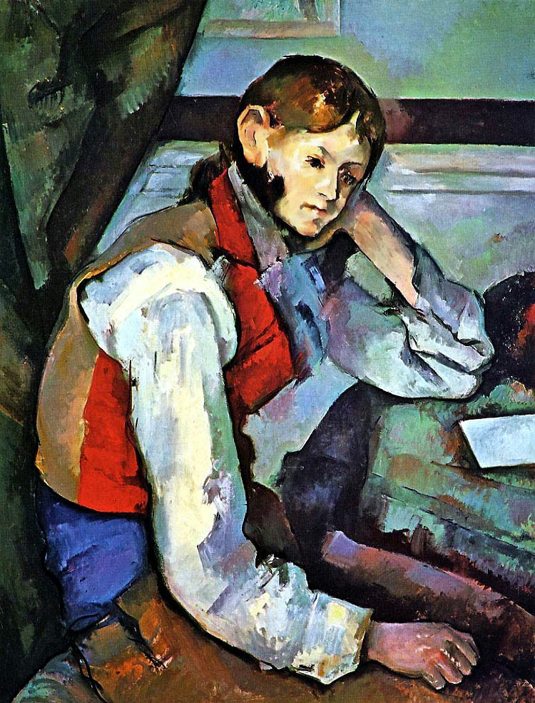 "Picture of ""The Boy in the Red Vest"" by Paul Cezanne, 1890"