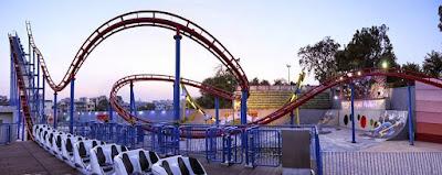 Boomerang Roller Coaster at Kankaria Lake Ahmedabad