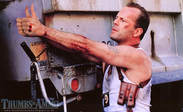 Thumbs and Ammo - Die Hard - Bruce Willis