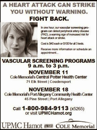 11-11 & 18th Vascular Screening