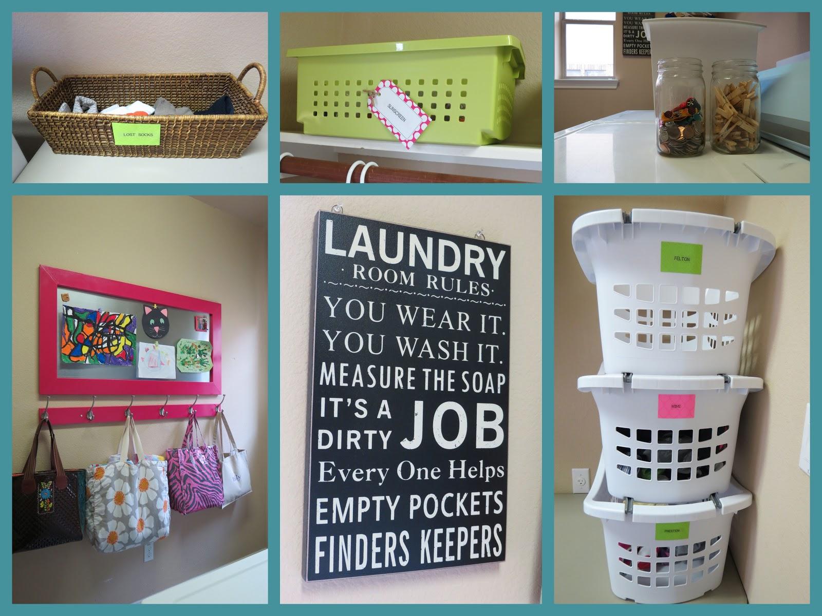 Cute Laundry Room Decor Ideas organized stylekari: laundry room turned art gallery!