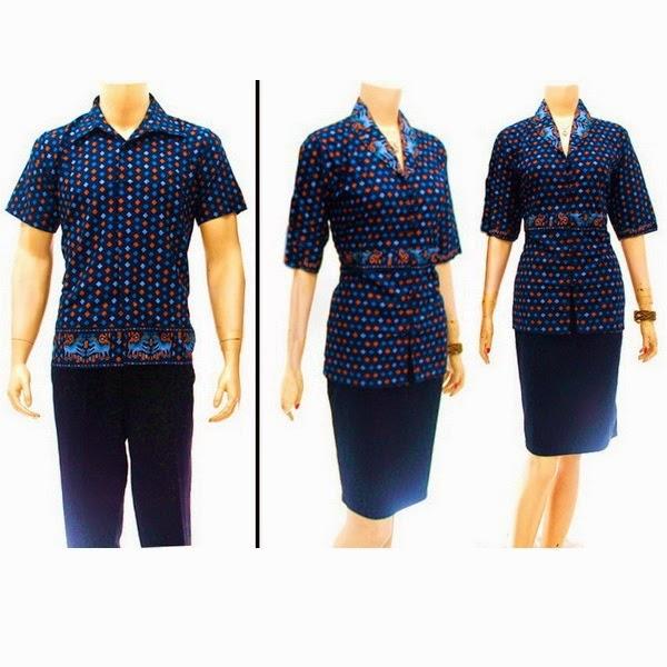 SR726 Grosir Baju Batik pasangan/Couple 2014