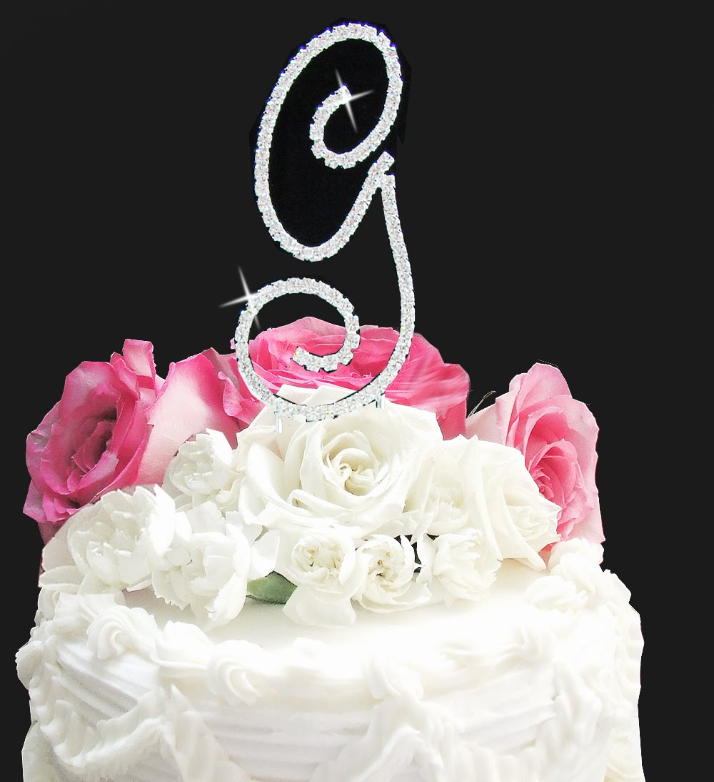 Alternative Wedding Initial Wedding Cake Toppers