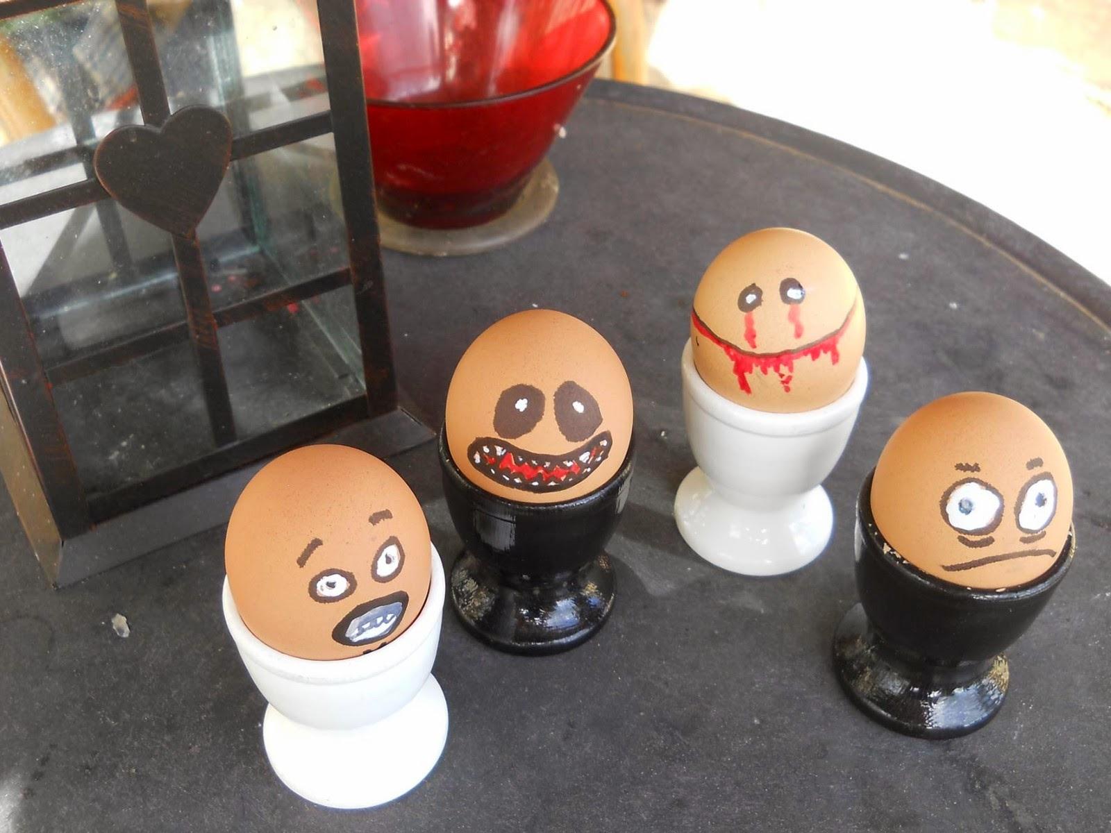 Idées pour le Recyclage des Boîtes d'œufs et des œufs pour Halloween
