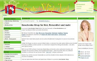 Shop Geschenkewunderland Website