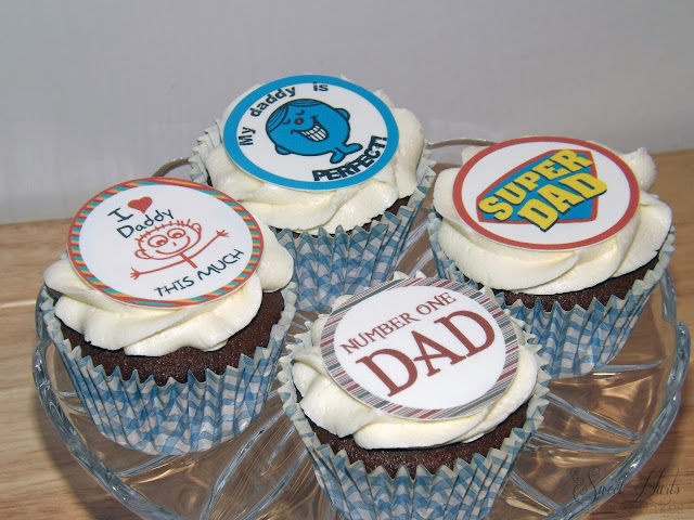 Fathers Day Cupcakes edible prints