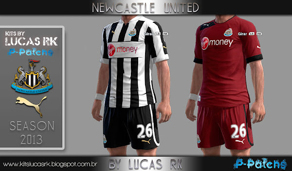 PES 2013 Newcastle 2012/13 Kits by Lukas RK