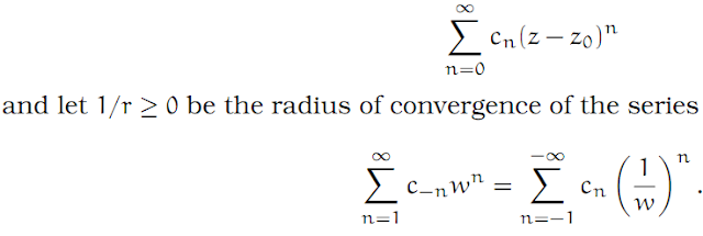 Complex Analysis: #15 The Laurent Series equation pic 2