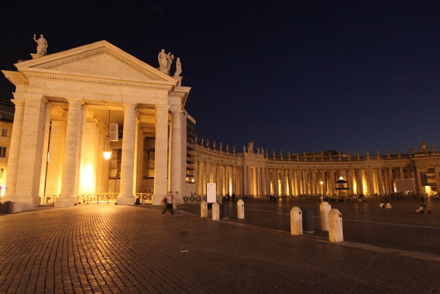 Saying goodbye to Saint Peter's Square in Vatican City, Rome, Italy