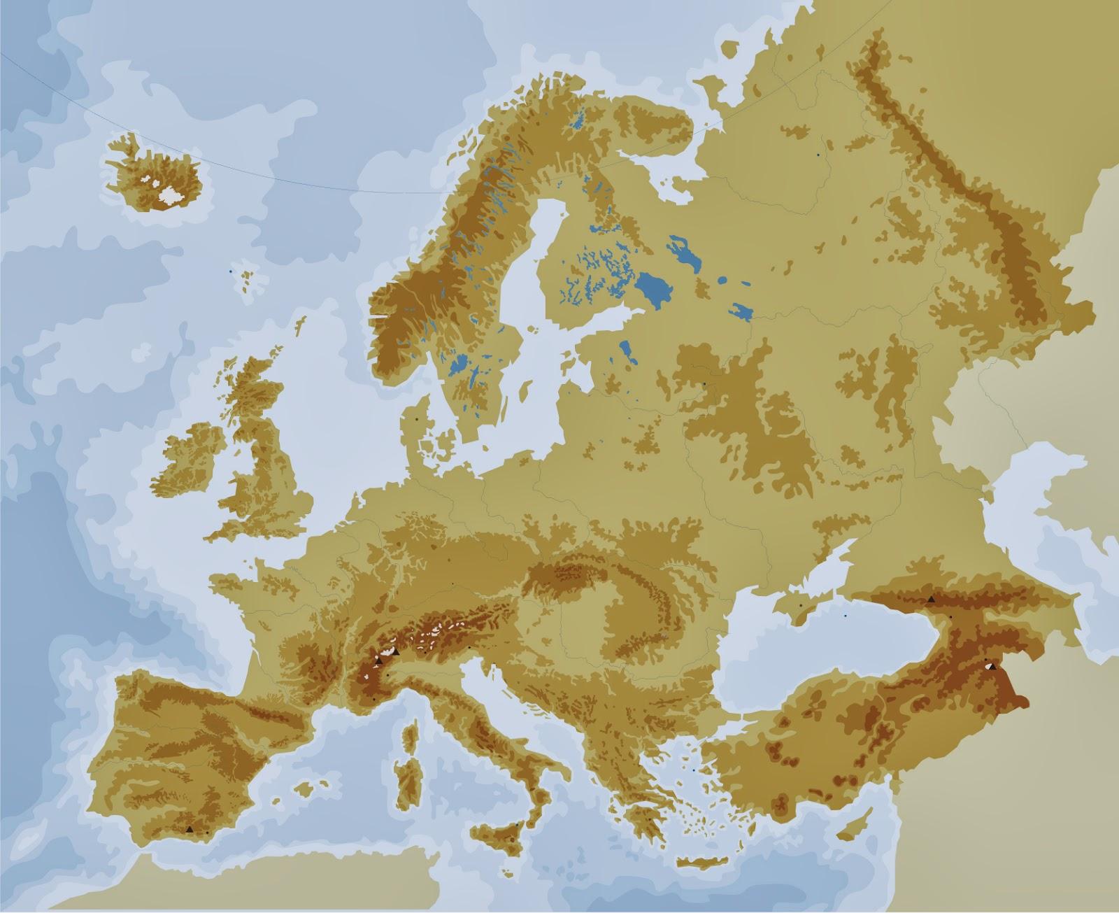 La alacena de las Ciencias Sociales Mapa fsico de Europa