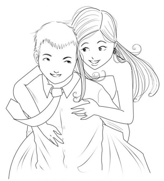 Easy Love Drawings Cartoon