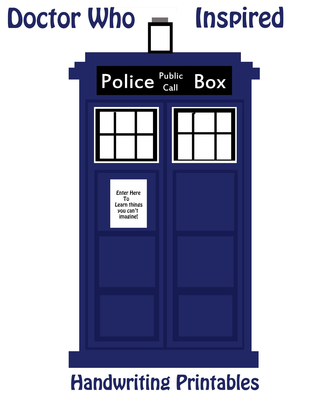 image about Tardis Printable referred to as Medical doctor Who Handwriting printable Effort and hard work upon handwriting with