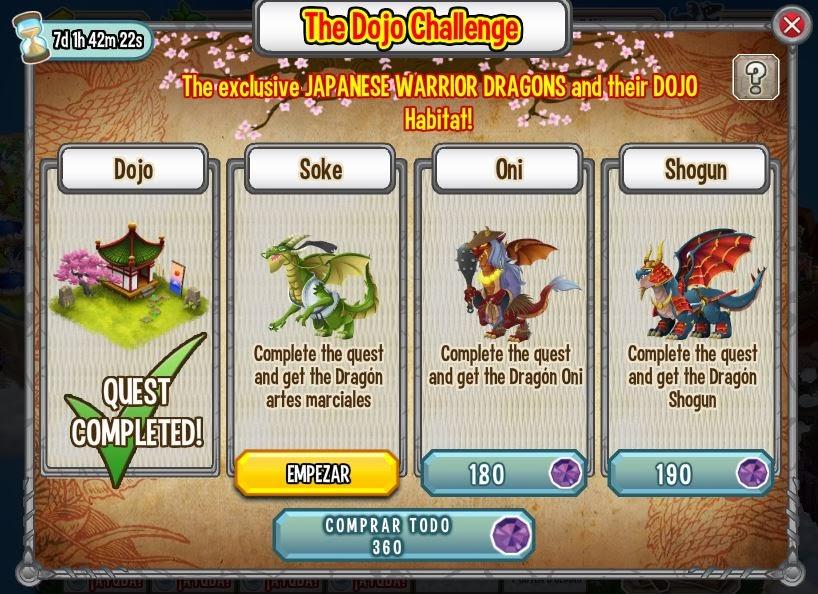 imagen del soke de la isla dojo de dragon city de facebook