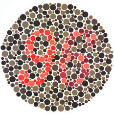 Prueba de daltonismo - Carta de Ishihara 25