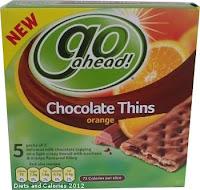 Go Ahead Chocolate Thins Orange