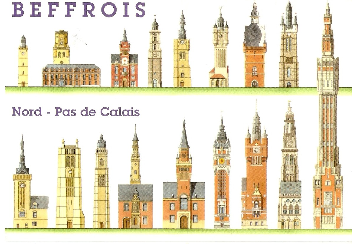 My unesco world heritage postcards belgium france - Tables decennales pas de calais ...