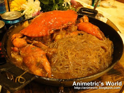 Crab with Sotanghon Hotpot at King Chef